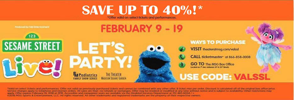 Madison Square Garden - Sesame Street Live Banner ad