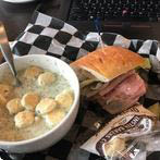 Photo of a soup and sandwich at Shayna's Place in Dallas, TX