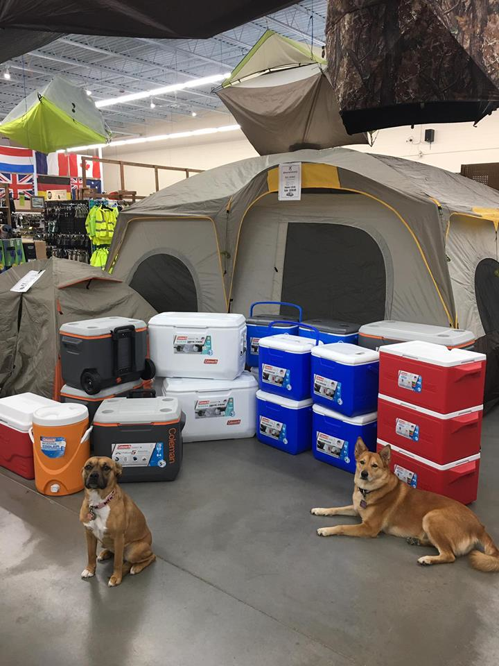 Sherper's camping, tents, chairs, coolers and apparel and accessories in Lake Country