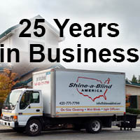 Shine-a-Blind has been in business for over 25 years - blinds cleaning - blinds sales - blinds service - blinds installation