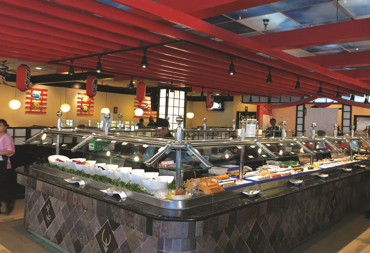Interior of Shin Ju Japanese Buffet in Coral Springs, FL