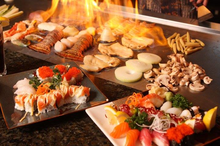 Teppanyaki Hibachi Grill at our Japanese Steakhouse with yellowfin tuna.