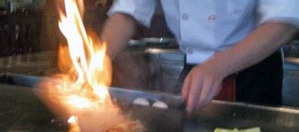 photo of fire cooked Asian food from Shogun Chinese and Japanese Bistro in Rochester Hills, MI