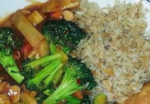 photo of broccoli and rice dish from Shogun Chinese and Japanese Bistro in Rochester Hills, MI