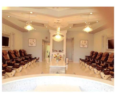 Interior of signature nails & spa in arlington, tx