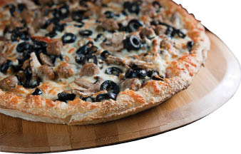Mushroom Supreme specialty pizza in Everett Washington