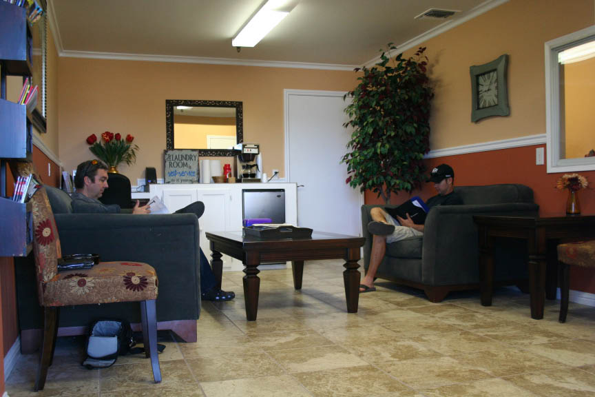 Sit in their clean and comfortable lounge while you wait for your car to be serviced