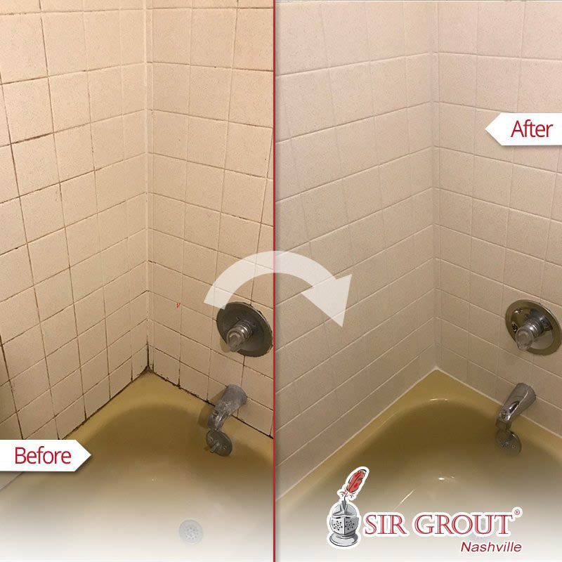 grout cleaning and recoloring; Sir Grout in Tennessee