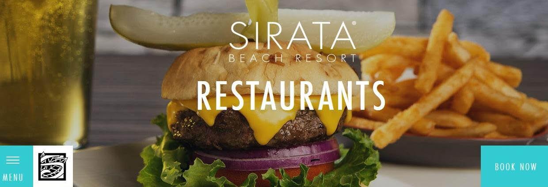 SIRATA BEACH RESORT banner http://www.sirata.com/restaurants/