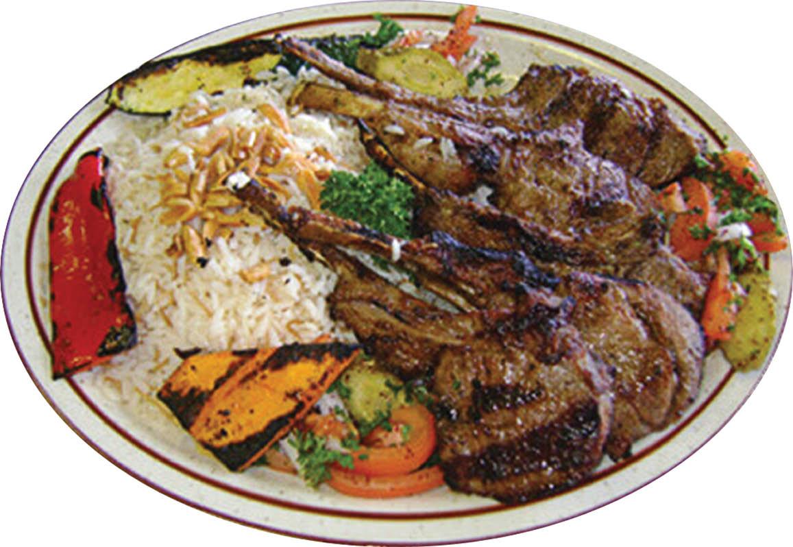 Lamb plate meat skewers