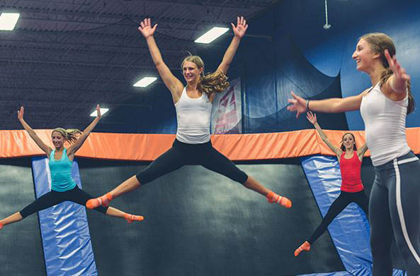 Sky Zone, Trampoline Park, Jumping, Exercise, Fun, Entertainment, Trampolines, Group, Park