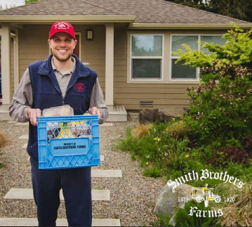 Smith Brothers Farms friendly milkmen delivering your farm fresh food right to your door - food delivery service