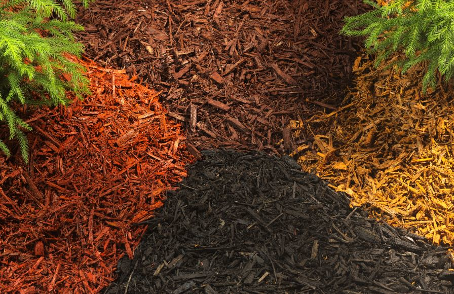 A variety colored mulch to beautify your landscaping.