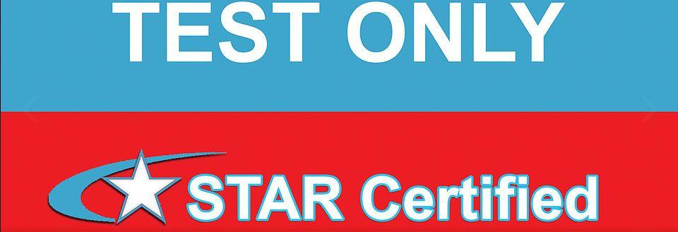 Smog Test Only - STAR Certified Sign for Smog Masters banner