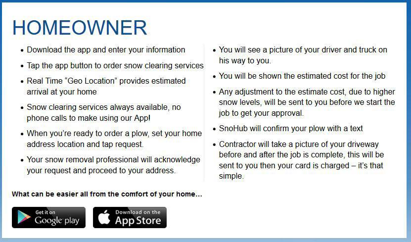 SnoHub app instructions