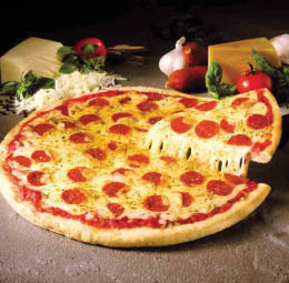 Large cheese pizza with pepperoni from Sole D'Italia