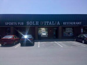 Sole D'Italia Restaurant storefront in Silver Spring, MD