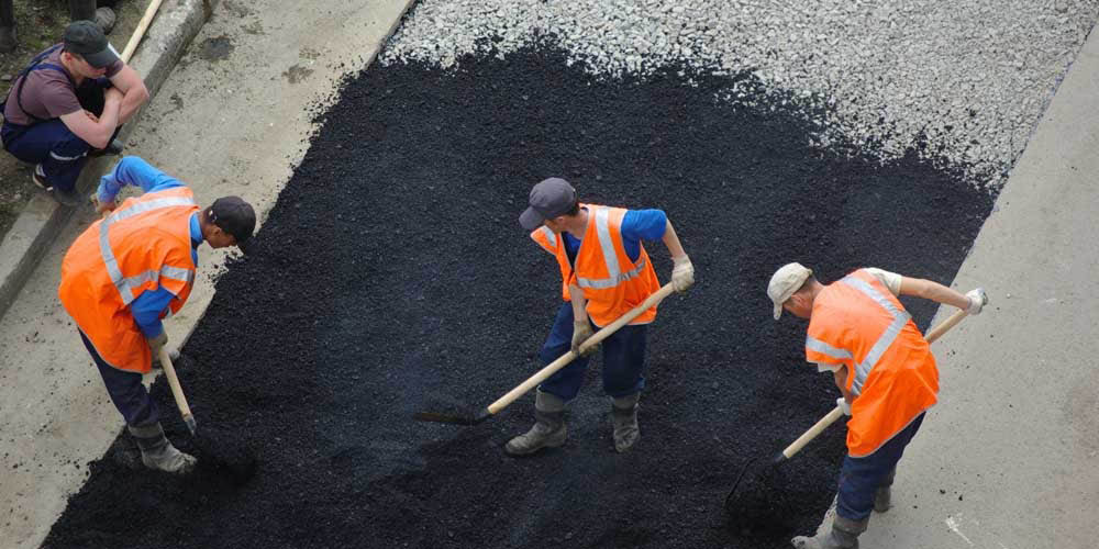 Commercial asphalt and street sweeping
