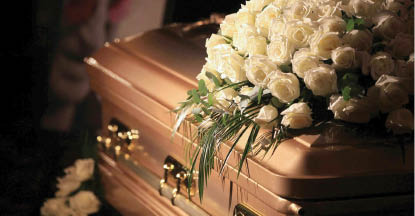 Caskets and on site cremation