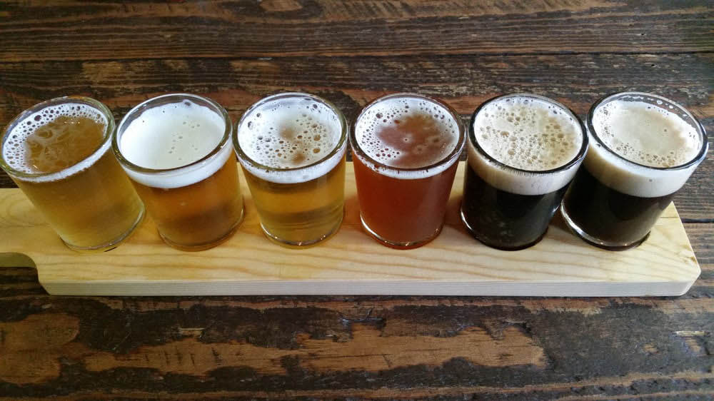 Large variety of beers on tap at Sound to Summit Brewing in Snohomish, WA
