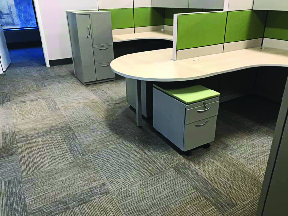 Textured commercial flooring squares