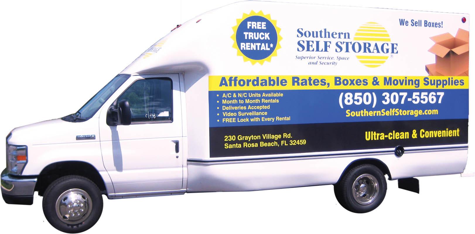 Southern Self Storage company vehicle logo