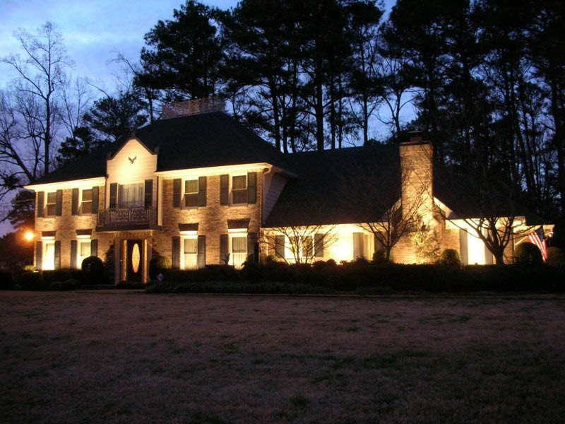 Architectural lighting accentuates homes' features