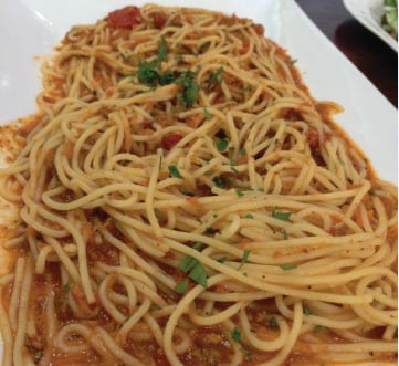 Delicious pasta from Soprano's Pizza & Pasta in Ballard, WA - spaghetti - pasta near me - Italian restaurants in Ballard - Italian food near me - pizza near me - Italian food coupons near me