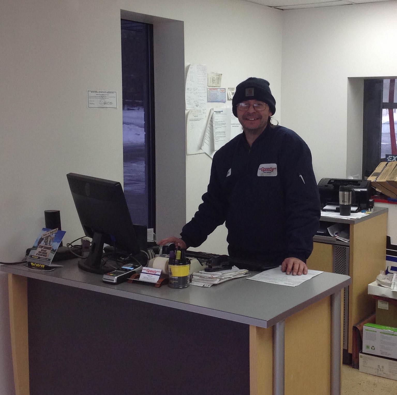 customer service rep; Speedy Auto Service, Ann Arbor, MI; scheduled maintenance