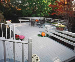 Freshly painted deck from Spender Hulbert Construction