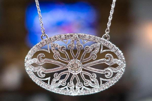 Beautiful diamond and gold pendants
