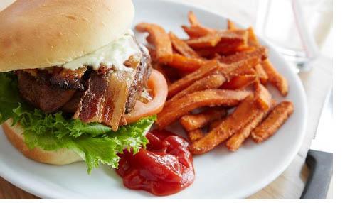 Juicy burger at Spring Street Pub & Grill in Newton NJ