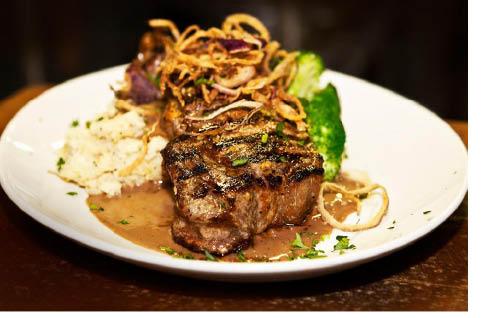 NY Strip Steak at Spring Street Pub & Grill in Newton NJ