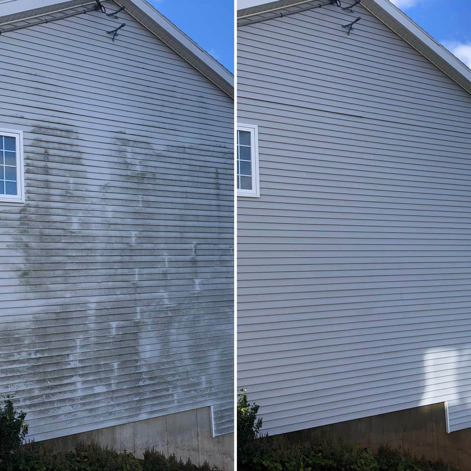 power wash house