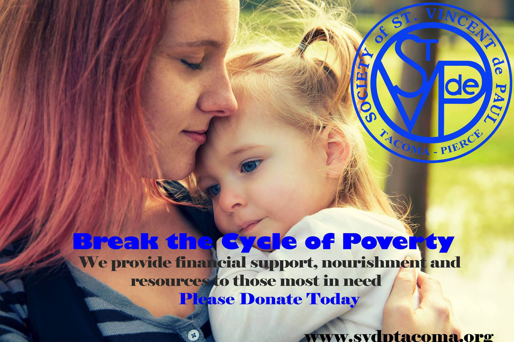 St Vincent de Paul Tacoma-Pierce thrift stores - helping to break the cycle of poverty - please donate today