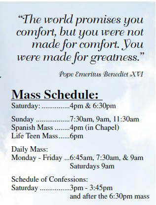 mass schedule Mass near me Catholic mass near me communion services