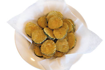 Stacked Pickle Fried Pickles appetizers
