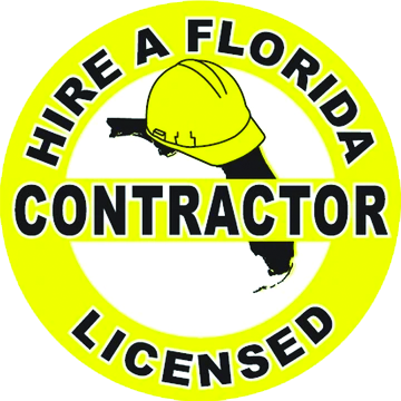 Hire a Florida Licensed Contractor signage