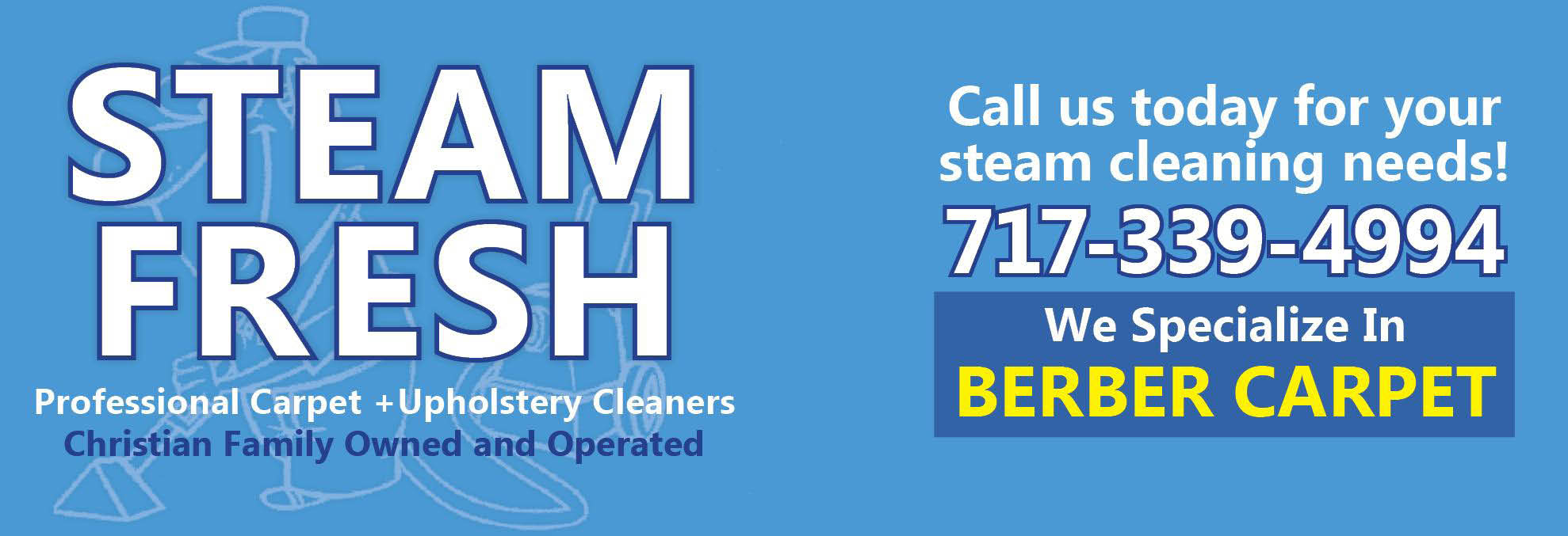 Steam Fresh Carpet Cleaning, Upholstery Cleaning, Rugs, Chairs, Sofa, Pet Odor Removal
