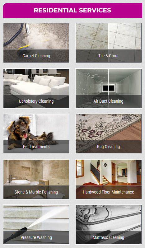 Steam Master Cleaning and Restoration Residential Services