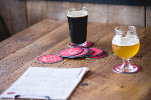 Twenty local and international beers on tap