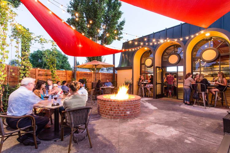 Our outdoor setting at Steele & Hops Public House in Santa Rosa