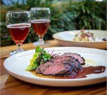 steak dinner; wine; dinner; lunch