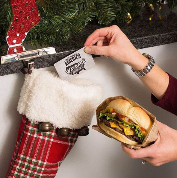 Even Santa knows Wayback Burgers' gift cards make a perfect stocking stuffer