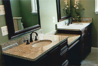 stone design in the bathroom