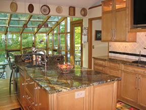 stone designed kitchens