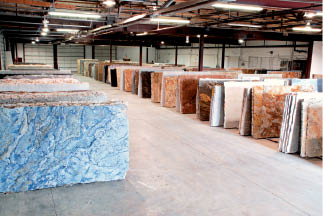 1000 slabs available to see in stone statements showroom
