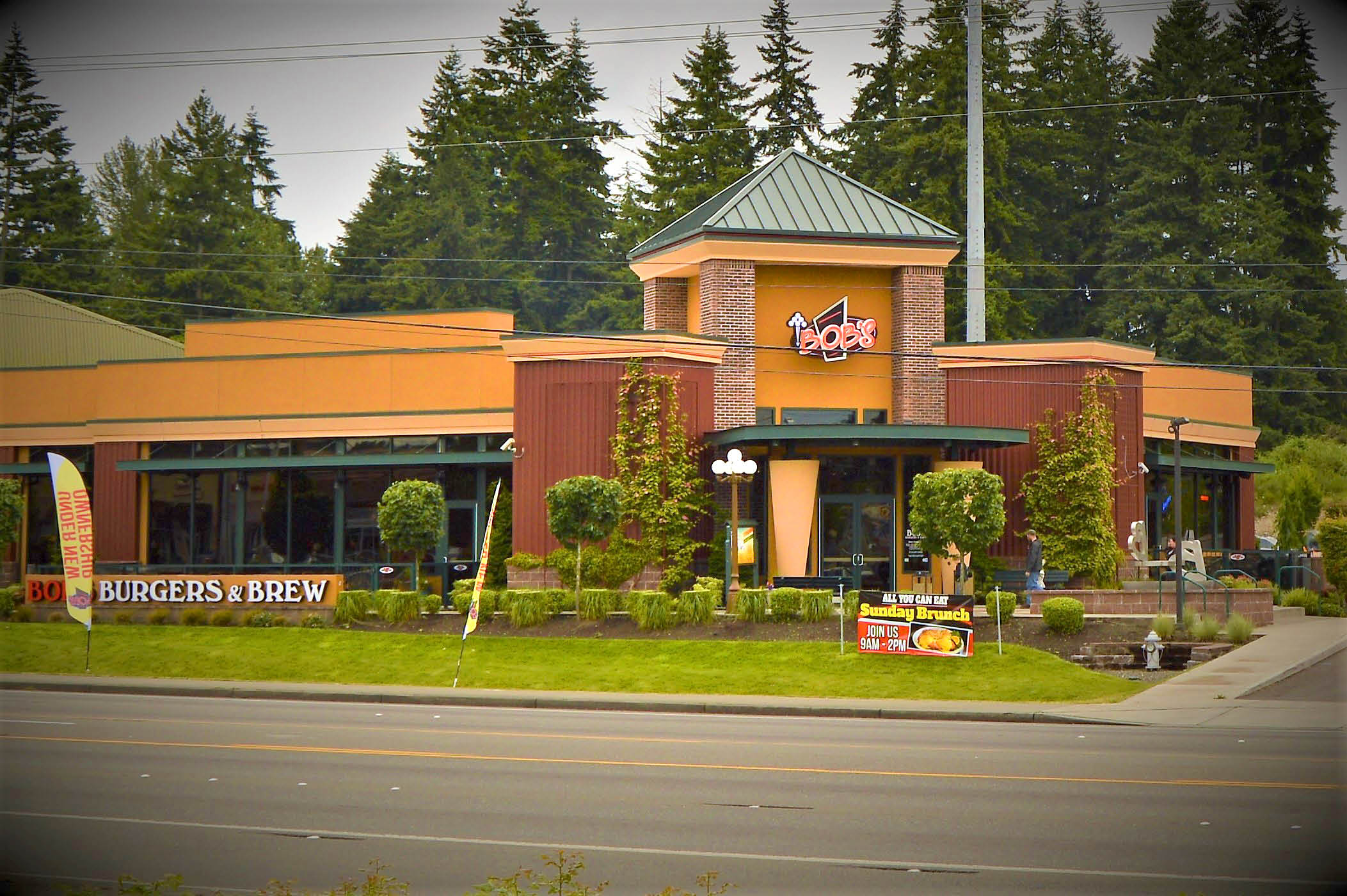 bob's burgers and brew restaurant puyallup store front