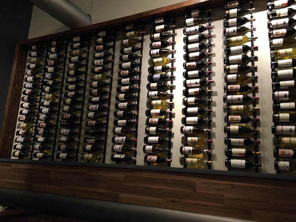 Strings Italian Cafe in Livermore, CA wine wall collection
