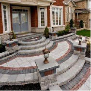 photo of brick pavers and retaining walls from Suburban Landscape Supply